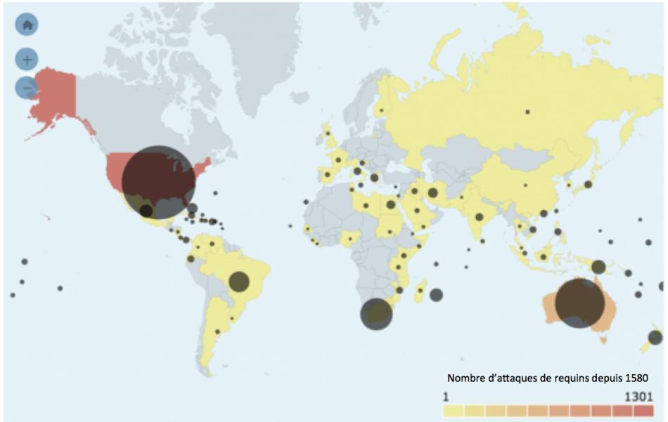 2015 : une baisse de près de 50 % de la mortalité associée aux attaques de requins dans le monde