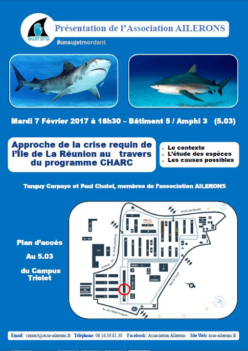 conférence ailerons réunion requin CHARC