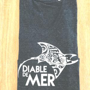 raie manta diable de mer t-shirt